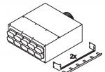 Коллектор, 8 подключений 60x130 мм. Ø180 мм.